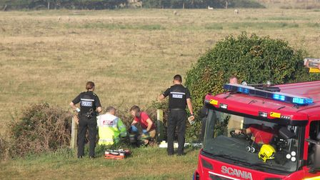 A neighbour has spoken of his shock after a man was discovered in a ditch on Chapel Lane, Wymondham.