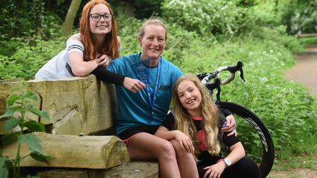 Maria Greaves with her daughters Chloe and Millie. Picture: Archant