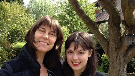 Jane Hoggar, who has written a book about her treatment for breast cancer, with her daughter, Holly