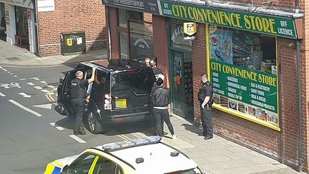 Trouble in Anglia Square Photo: Submitted