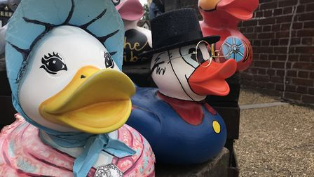 Some of the ducks have been revealed ahead of The Grand Norwich Duck Race 2019. Picture: Lauren De B