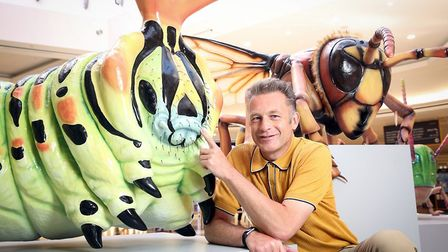 Chris Packham at the Big Bug Tour launch at intu Lakeside - which is coming to intu Chapelfield. Pic