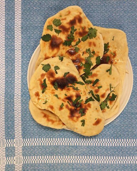 Kate's Naan Bread with Garlic Ghee (C) Kate Royall