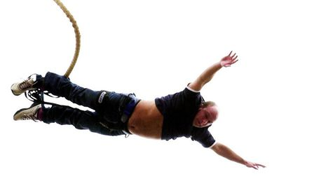 The Gull Inn, in Norwich, will host a bank holiday charity bungee jump event. Pictured, a jumper fro