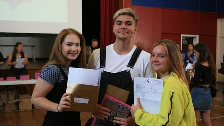Students at Sprowston Community Academy celebrate their GCSE results. Picture: Sprowston Academy