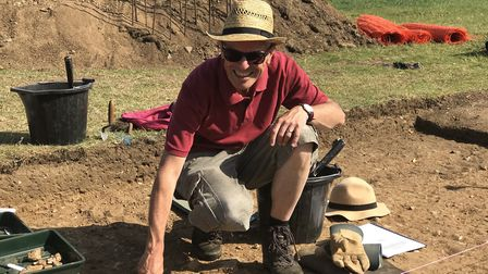 Proffesor Will Bowden, leader of the recent Roman excavations of a temple in Caistor St Edmunds. Pic