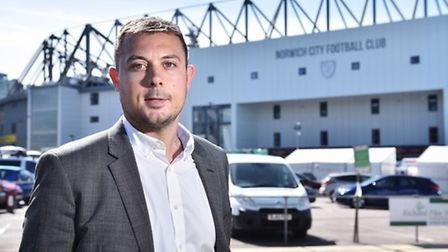 Ben Kensell, chief operating officer at Norwich City Football Club. Pic: Archant