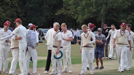 Swardeston enjoy the moment on Sunday after completing their win over Ealing in the semi-finals of t