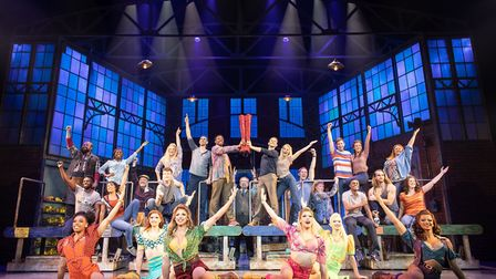 The cast of Kinky Boots Credit: Helen Maybanks
