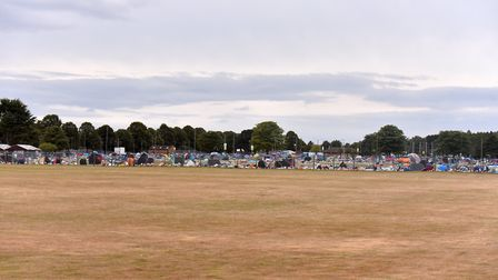 Tents and waste left at the Norfolk Showground after Sundown Festival. Picture: Jamie Honeywood