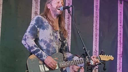 Jason Wick of Little Red Kings playing at Horsey Beer Festival 2019. Picture: Tracey Bagshaw