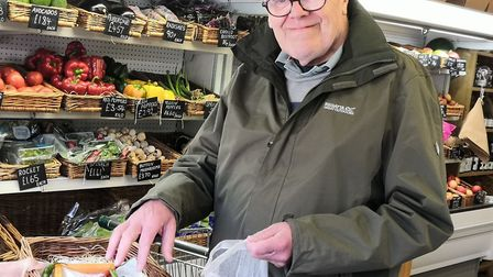 Customers have turned out to support Church Farm Shop, despite roadworks in Hethersett. Photo: Betha