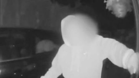 Kirk was filmed just before 1am by the doorbell camera. Picture: Suffolk Constabulary