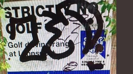 Police are trying to trace a graffiti artist in King's Lynn Picture: Norfolk Constabulary