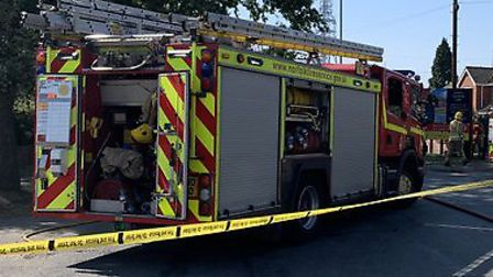 A 'large fire' has been reported in Brooke. Photo: South Norfolk police