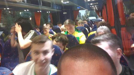 Norwich City fans have been trapped on delayed coaches en route to a League Cup game. Photo: Mark Ne