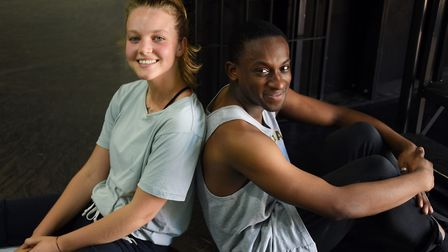 Dancers Isis Clunie and Alexander Fadayiro at rehearsals of Matthew Bourne's Romeo and Juliet. Pictu