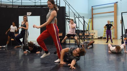 Dancers go through their moves during the rehearsals of Matthew Bourne's Romeo and Juliet. Picture: