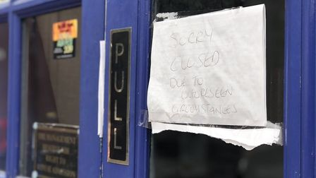 The venue in Cowgate has now been boarded up. Picture: Archant