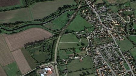 A casualty was treated by ambulance crews after a crash on the A10 near Hilgay. Pic: Google Maps.