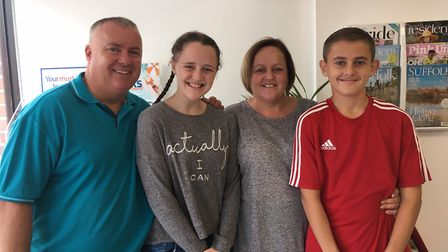 From left to right; dad, Dean, Abbie, mum, Alison and brother, Ashton. Picture: Joseph Norton