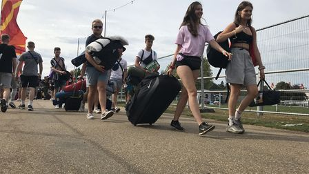 Campers arriving for Sundown Festival 2019 at the Royal Norfolk Showground. Picture: Neil Didsbury