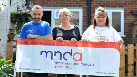 Nigel Allen and his wife Mandy, right, with Colleen Alp, middle, voluntary association visitor. Pict