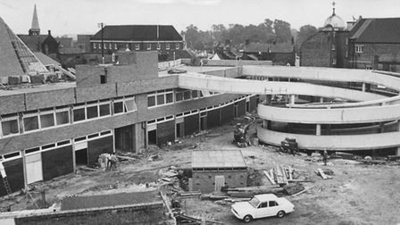 The Spiral car park being built on New Conduit Street, in 1969 Picture: Archant