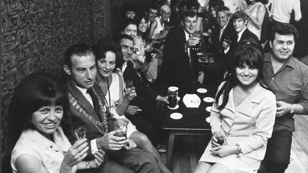 Drinkers in the Maids Head in 1966, the year it was visited by Bowie