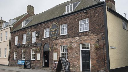 The Maids Head on the Tuesday Market Place in King's Lynn, which David Bowie played a concert at in