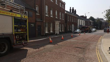 Norfolk Fire Service are investigating a gas smell on All Saints Green. Picture: Ruth Lawes