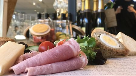 The Ploughmans platter on offer at the new M&S bar. Picture: Ella Wilkinson