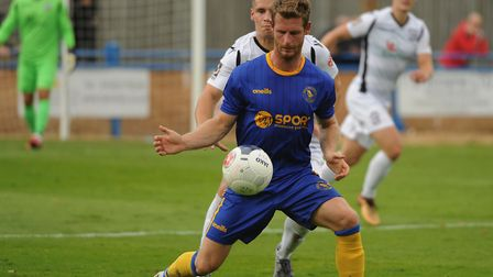 King's Lynn Town striker Adam Marriott is getting extra attention this season Picture: DENISE BRADLE