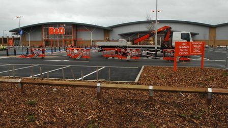 The B&Q store on the Norwich Livestock Market site, pictured shortly before its opening in 2007. It
