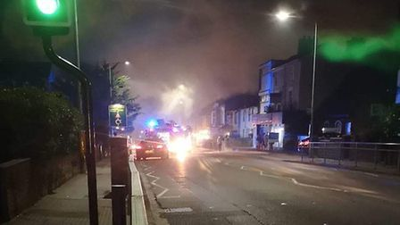 Fire crews called to Bridge Road in Oulton Broad. Photo: Lowestoft South Fire Station