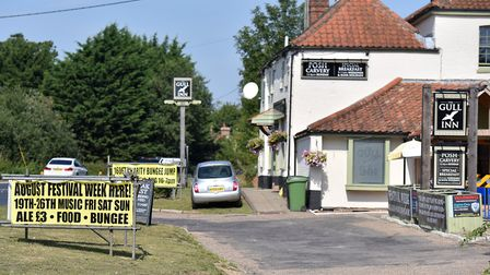 The charity bungee jump event at the Gull pub on Loddon Road. Picture: Jamie Honeywood