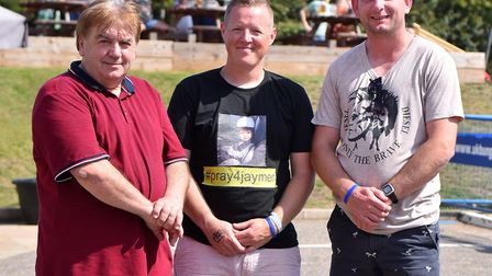 From left to right Steve Munson, The Gull owner with Jordan Woolston and Stuart Osborn. Picture: Jam
