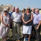 Members of Wroxham Parish Council at the former Windboats Marine site in Wroxham. Picture: Malcolm A