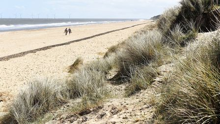 Picture of Scratby beach. PIC: James Bass.