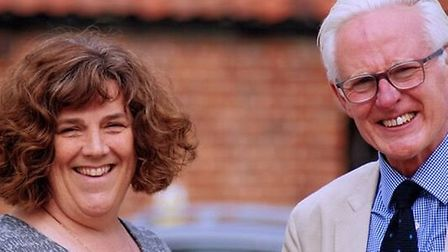 Karen Ward, Liberal Democrat prospective parliamentary candidate for north Norfolk, with Sir Norman