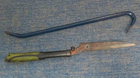 Weapons found after a man was arrested on suspicion of drug dealing in King's Lynn Picture: Norfolk