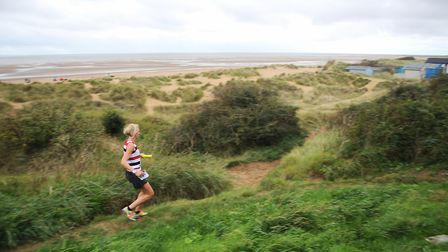 A runner on the second stage of the Round Norfolk Relay. Picture: Ian Burt