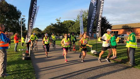 Action from the Round Norfolk Relay last weekend. Picture: Simon Brierley