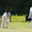 Paul Bradshaw reverse sweeps in his way to an innings of 88 in the Vauxhall Mallards' final away fix