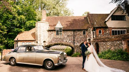 Wedding couples can use either of the fabulous classic cars now acquired by the Maids Head hotel in