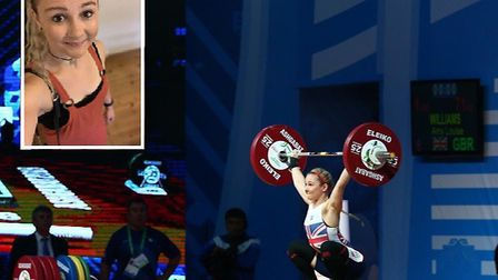 Amy Williams, who is hoping to compete in the 2020 Olympic Games in weightlifting. Picture: Amy Will