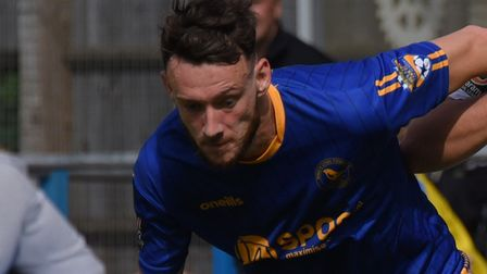 Rory McAuley struck to preserve a point for King's Lynn at Spennymoor. Picture: Archant