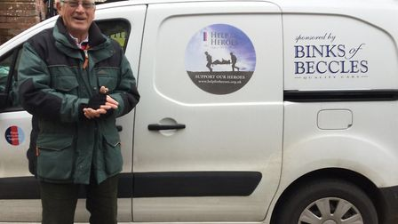 Charity baker David Brown will again raise money for Help for Heroes as he returns to Beccles with h