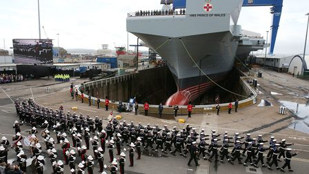 HMS Prince of Wales is getting ready to set sail Picture: Andrew Milligan/PA