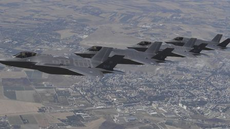Royal Air Force F-35 Lightning aircrafts from Dambusters 617 Squadron. Picture: RAF Marham